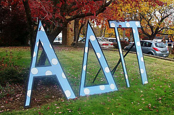 Alpha Delta Pi Lawn Letters