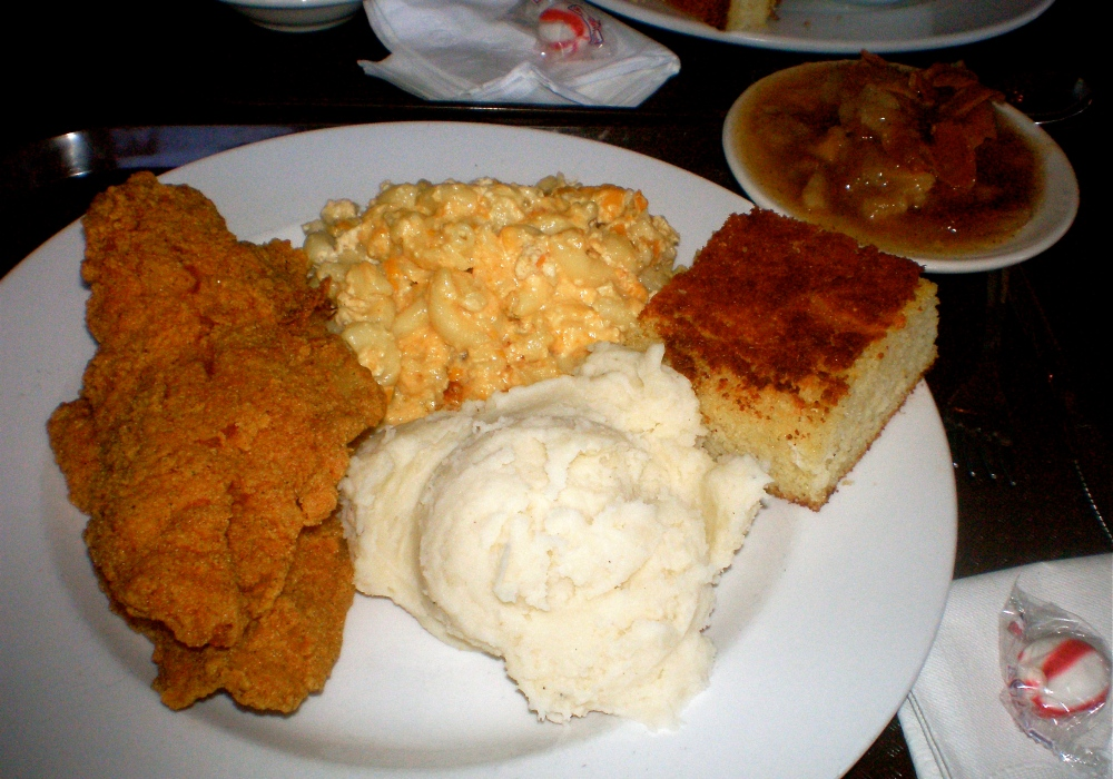 Plate of food from Sweetie Pie's